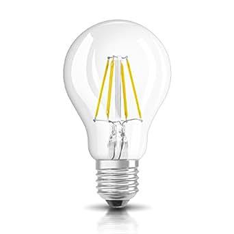 Osram LED-Lampe | Sockel E27 |Warm White (2700 K) | ersetzt Glühlampen mit 60 W | 7,00 W | Klar | LED Retrofit CLASSIC A