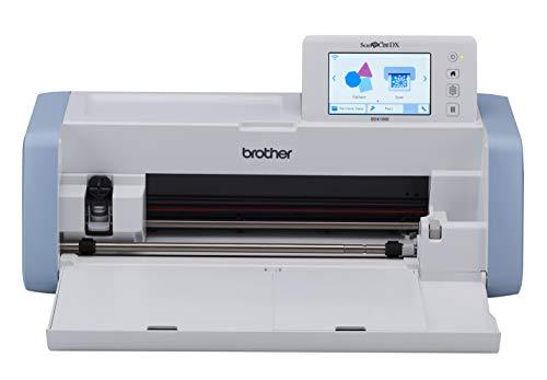 Brother ScanNCut DX 1000 Hobbyplotter: innovativ und vielseitig, mit Integriertem Scanner 600dpi, Automatikmesser, großer Heller LCD-Touchscreen