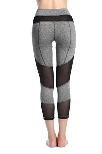 Harem Yoga Yoga Hose Sportliche Capri Leggings fuer Frauen Gray