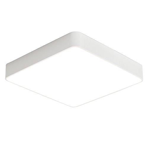 24W Kaltweiß LED Einfach Deckenlampe Platz Deckenleuchte für Schlafzimmer Küche Flur Wohnzimmer Lampe Wandleuchte Energie Sparen Licht Weiß