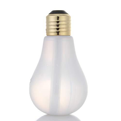 QIA Humectador ultrasónico del Aire de la lámpara de 400ml LED para la Niebla casera del ambientador de Aire del atomizador del difusor del Aceite Esencial,C