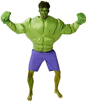 Rubie'sDisfraz de Hulk de Marvel, hinchable, para adultos, producto oficial de Rubie's, tallaúnica