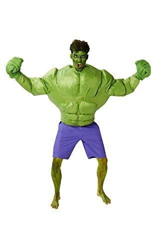 Rubie 's Offizielles Marvel aufblasbares Hulk, Erwachsenen-Kostüm–One (S Rubie Aufblasbar Kostüm)