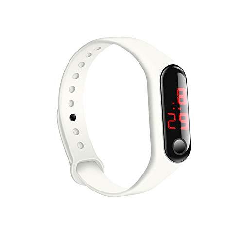 Serui Neue LED Kinder DREI Generationen von Hirse Armband elektronische Uhr Sport Silikon Armband Werbegeschenke direkt ab Werk Großhandel weiß