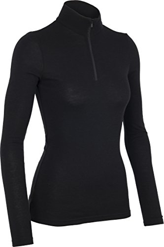 Icebreaker Damen Funktionsshirt Everyday LS Half Zip, Black, XS, 101303001