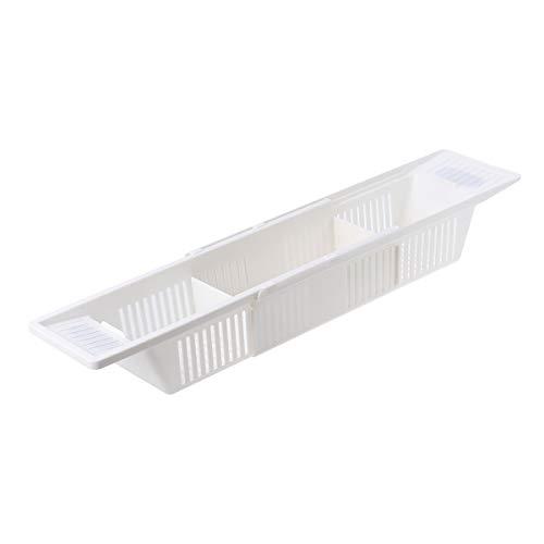 Vosarea retráctil Bath Caddy Bandeja de plástico bañera Cesta Estante Rack Juguetes...