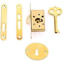 Aawsome - Cerradura de cajón vintage con llave antigua pequeña para puertas de armarios ...