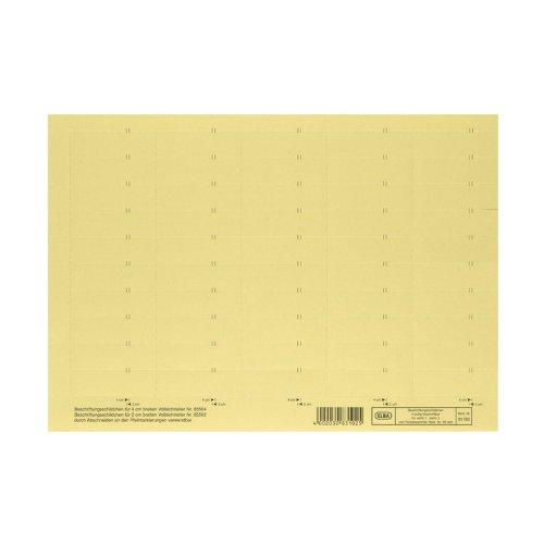 Preisvergleich Produktbild ELBA 100555643 Beschriftungsschild für Komfort-Sichtreiter vertic 50 Stück 4-zeilig gelb