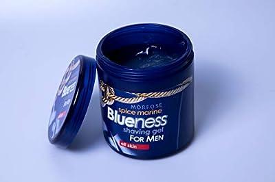 Blueness Spice Marine Shaving Gel For MEN All Skin Stype 500ml Easy Wet Shaving Experience Blade Glides Easy