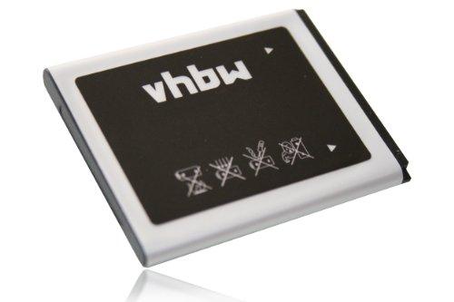 vhbw Li-Ion Akku 1200mAh (3.7V) für Handy, Smartphone, Telefon Samsung SGH-D780, SGH-G810, SGH-i550, SGH-i8510, GT-i5500, Galaxy 550 wie AB474350BA.