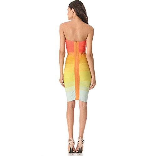 HLBCBG Damen Kleid Orange Orange Orange - Orange