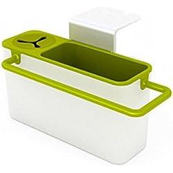 Espeedy Rack de cocina,Estante de cocina,Creativo práctico succión taza de cocina fregadero soporte de almacenamiento de plástico estante de baño almacenamiento