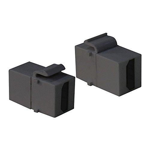Multimedia Patch Panel (Faconet® 2x Keystone Modul HDMI Buchse > Buchse Verbinder für Keystone Panel oder Dose)