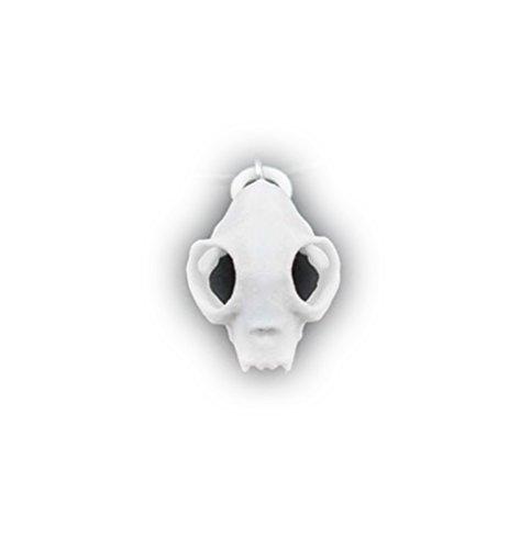 Il gatto e il lupo, Rogue Teschio girocollo in Bianco-3d stampato gotico gioielli