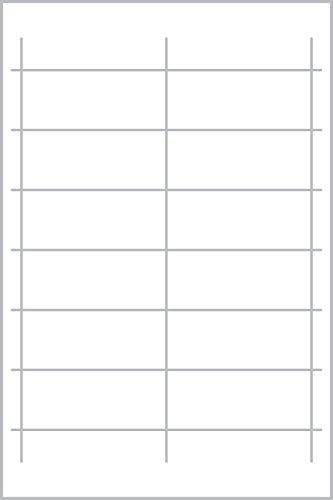 Avery Zweckform Living 62021 - Marcos de metal con tarjetas en blanco, 27 x 54 mm, color blanco y plateado