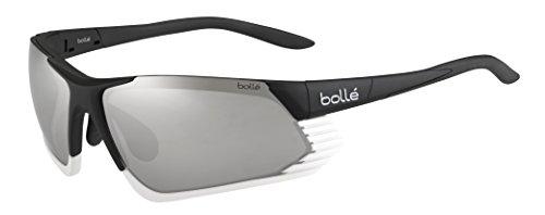 Bollé (CEBF5) Cadence Gafas, Unisex Adulto, Negro (Shiny) / Blanco, L