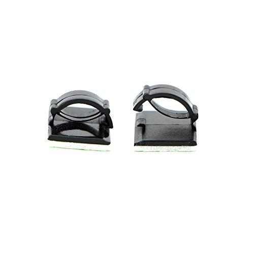 pasow 100PCS selbstklebend Auto Kabelbinder Kabel Clips Kabel Drop Draht Halter Organizer - 3