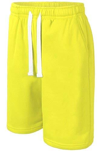 Fleece-active Shorts (JC DISTRO Herren Hipster Active Athletic Jogger Fleece Shorts mit Cargotaschen - Grün - Groß)