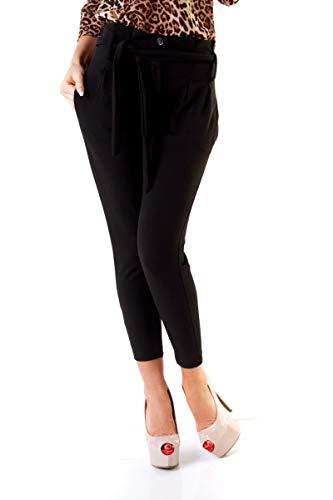 OSAB-Fashion 10262 Damen Hose Bundfaltenhose Business Damenhose 7/8-Länge Bindegürtel