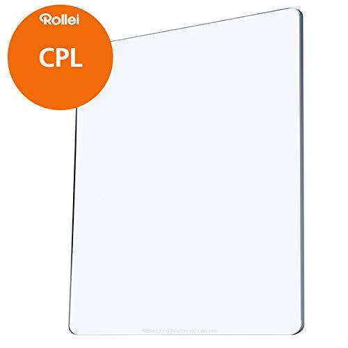 Rollei F:X CPL Filter | Polfilter 150mm aus Gorilla-Glas mit Luminance Coating | Kombinierbar mit ND Filtern, Graufiltern und Verlaufsfiltern
