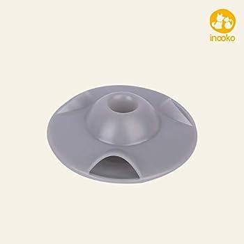 inooko - Flying Saucer, Jouet Distributeur de croquettes ou ou de récompenses. Interactif, stimule l'activité mentale et Physique - pour Chat