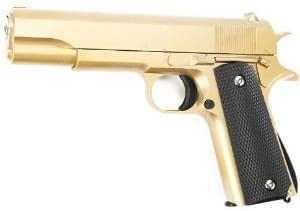 Galaxy G13 M1911 A1 Springer - Pistola de airsoft (metal, 6 mm, BB), color dorado
