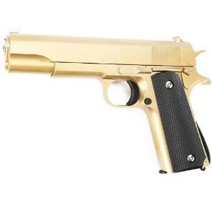 Preisvergleich Produktbild Galaxy G13 M1911 A1 Vollmetall Springer Softair 6mm BB gold