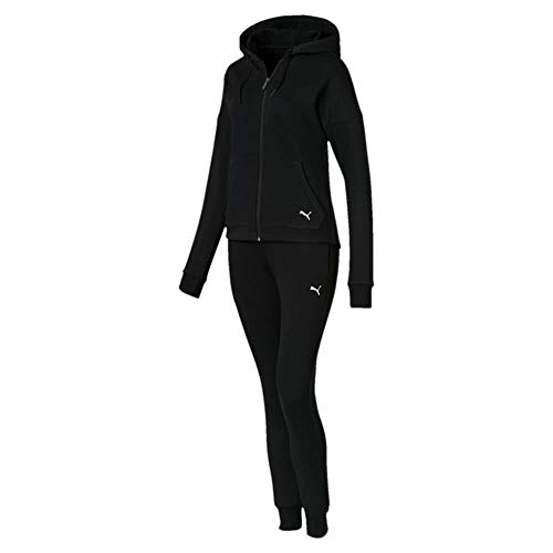 Puma Damen Clean Sweat Suit CL Trainingsanzug, Cotton Black, M