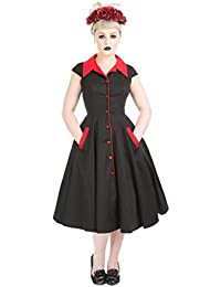 Hearts and Roses MEADOW 50s DINER 2-Tone Collar DRESS Petticoat KLEID Rockabilly