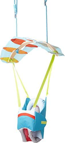 HABA 303941 - Babyschaukel Luftikus, Indoor-Schaukel zum Aufhängen im Gleitschirm-Design für Kinder ab 12 Monaten, Belastbarkeit: 30 kg