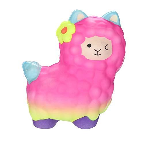 Cooljun Squishies Entzückende Lamas Langsam steigende Früchte Duftende Squeeze Stress Relief Toys für Erwachsene und Kinder Weihnachten Geschenk (11x10cm/4.33x3.94inch, ()