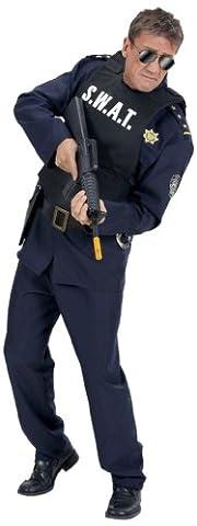 Widmann 2856D - Herren S.W.A.T. Weste, schwarz, Einheitsgröße (Fbi-kostüm Für Jungen)