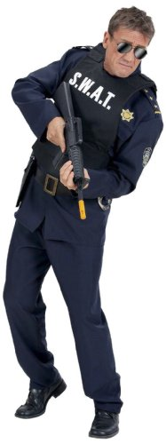 Fbi Kostüm Jungen Für (Widmann 2856D - Herren S.W.A.T. Weste, schwarz,)