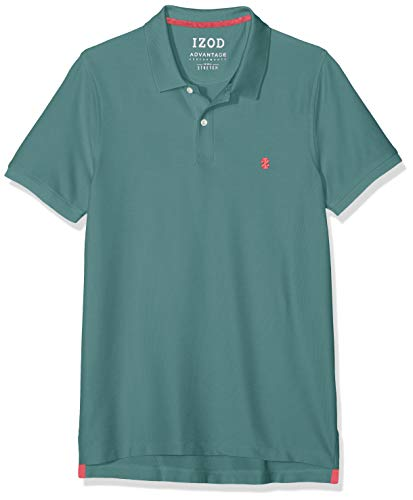 Golf Striped Polo Shirt (Izod Herren Performance Pique Polo Poloshirt, Grün (Silver Pine 386), Large (Herstellergröße: LG))