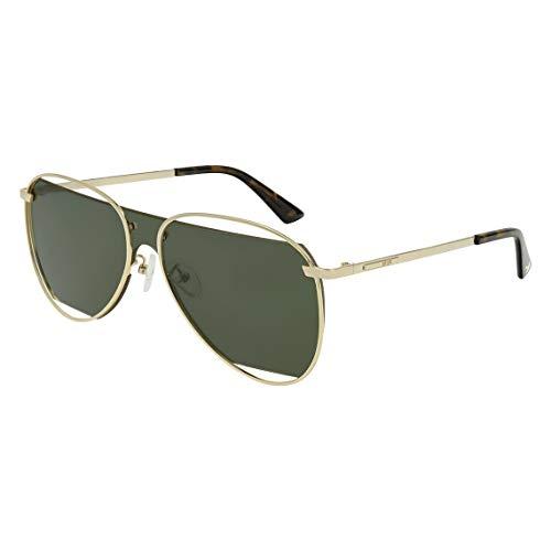 Sonnenbrille Alexander McQueen MQ 0196 S-002 GOLD/GREEN