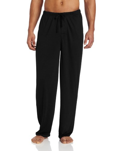 Intimo Herren Pyjama-Hosen Soft Knit Pajama Sleep Pant, Schwarz, XL (Bottoms, Schwarz Pyjama)