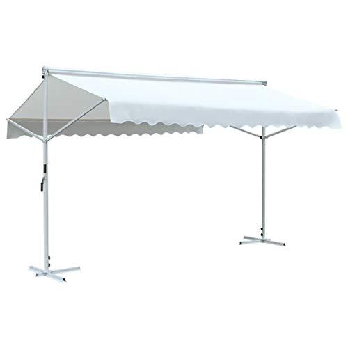 Tidyard tenda da sole a gazebo,tende parasole,ombrellone da giardino gazebo impermeabile quadrato 3x4 m crema