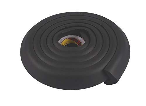 Stoßstangenschutz für Stoßstangen mit Kantenschutz mit Schutzkante für Kinder farbig - schwarz, 2m -
