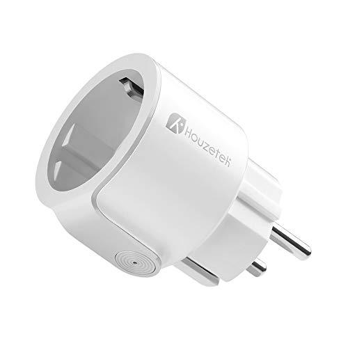 Presa Intelligente, Houzetek Smart Wifi Plug con supporto APP Alexa / Google Home, Wifi programmabile Plug IFTTT Telecomando per voce, Smart Home Plug Wifi per casa