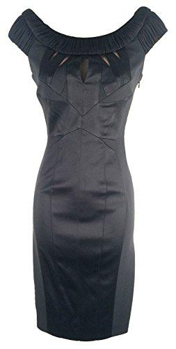 KAREN-MILLEN-Black-Pencil-Ruched-Tailored-Dress-DN092