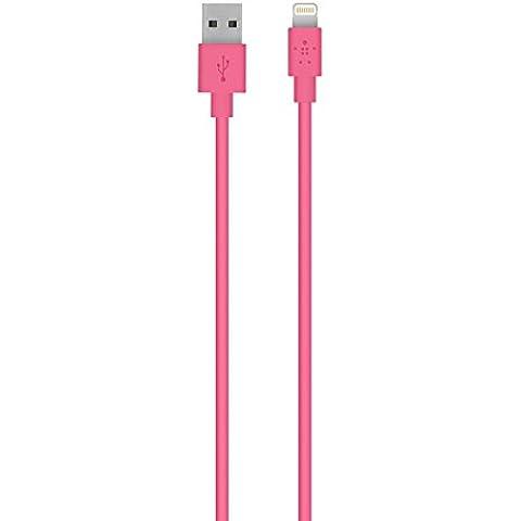 Belkin F8J023bt - Cable Lightning para dispositivos Apple (1.2 m, certificado MFi), rosa
