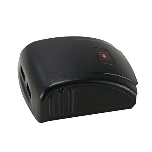 POWERAXIS Akku Adapter / Ladegerät mit 2x USB-Anschluss für Bosch 14,4V & 18V Akkus zum Handy / Tablet / Smartphone laden / USB Ventilator / Lampe betreiben