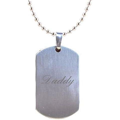 Papi grabado chapa identificativa colgante en bolsa de regalo