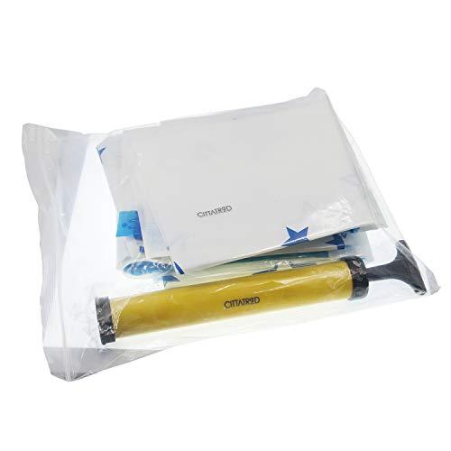 CITTATREND Set 6 Aufbewahrung Vakuumbeutel Handpumpe Beutel Wiederverwendbare Economizer Raumkompression mit Staubsauger für Kleiderschrank Kleidung Bettwäsche Daunendecke Kissen