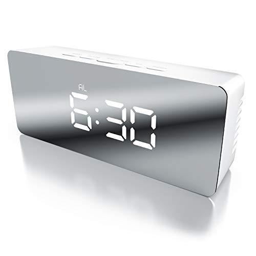 Bearware - Despertador Digital Espejo LED | Despertador