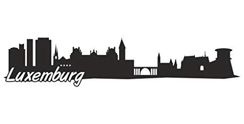 Samunshi Luxemburg Skyline Aufkleber Sticker Autoaufkleber City Gedruckt in 7 Größen (60x12,7cm schwarz)