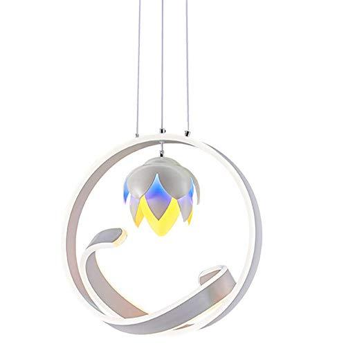 GENGJlamp Pendelleuchte Geformt Kreative Kronleuchter Tannenzapfen Einfache LED-Deckenbeleuchtung Wohnzimmer Eisen DREI-Farben-Dimming-Kronleuchter -