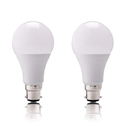 B22 LED Glühbirne Warmweiß - Bajonettverschluss Glühbirnen 9W 810LM Äquivalent 60W A19 Golfball Glühbirne, weiches warmes Licht 2700K, 2er Pack