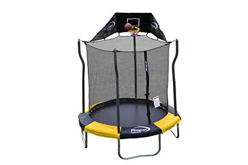 Propel Trampolines Indoor/Outdoor Trampolin mit Gehäuse, 213cm