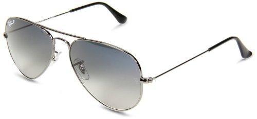 Ray Ban RB3025 Aviator occhiali da sole, 58 mm, Grigio (Gunmetal 004/78), 58